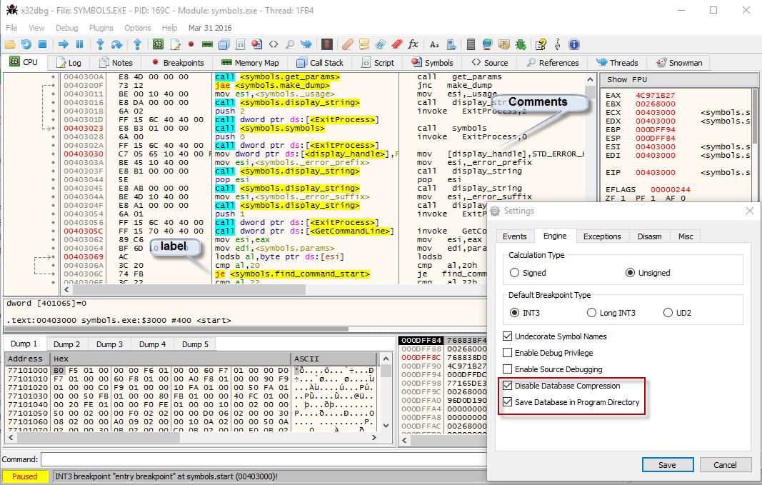 flat assembler - x64dbg debugger and fasm